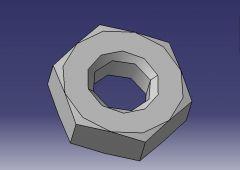 1003螺母CAD模型设计画画