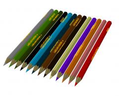 Crayons 3D DWG
