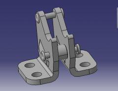 1007 Кронштейн CAD Модель dwg. рисунок