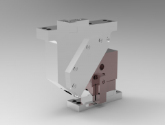 Solid-works 3D CAD Model of Naams Aerial Cam, Work Angle=45, Adapt Angle=5,   Work Travel=42.7  H=165