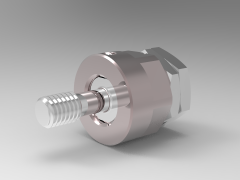 Solid-works 3D CAD Model of Screw Jacks for Heavy Duty, Mounting stud=1/2-13A= 2-3/4B=1-1/2C=1-1/4        D=1-9/16E=1-7/16F=1-5/16