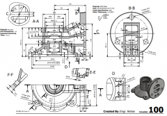 3 & 5 Axis CNC Machinable 2D CAD Drawing 100