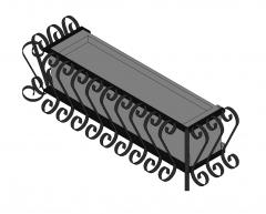 Terrace planter Revit model