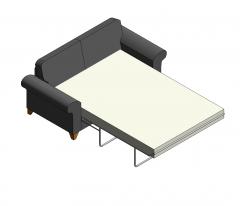2人掛けベッドソファRevitファミリー