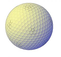Pelota de golf modelo 3D DWG
