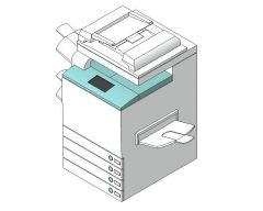 コピー機/プリンターRevitファミリー