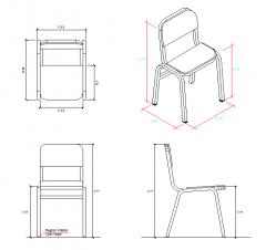 School Chair design dwg