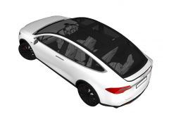 Tesla model X Sketchup model