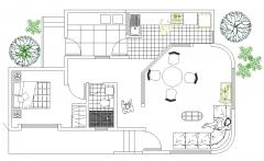 Single storey house plan dwg