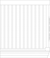 1030mm Wide Tubular Made Railings with Wood Handrail Left Side Elevation dwg Drawing