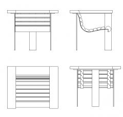 Design de cadeira de jardim dwg