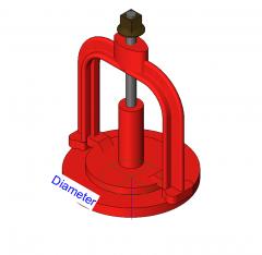 Válvula de barro modelo Revit