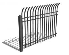 Security Fence Curved