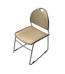Steel frame chair 3ds model