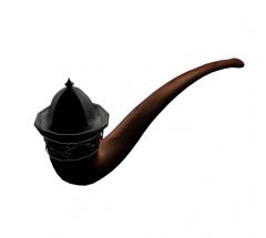 pipa de fumar 3ds max modelo