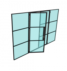 评论门屏幕Sketchup模型