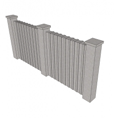 Compound wall Sketchup model