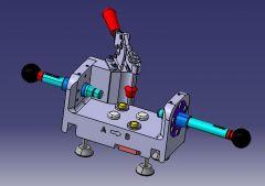 1073 Проверка приспособления CAD Модель dwg. Рисование