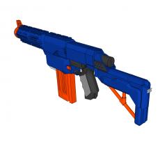 Nerf gun Sketchup model