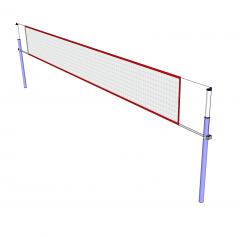 Volleyballnetz Sketchup-Modell