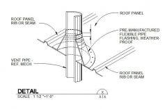 Pipe Flashing Roof Detail 01