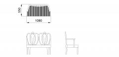 Ornate bench seat