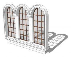 Three Narrow Windows Sketchup model