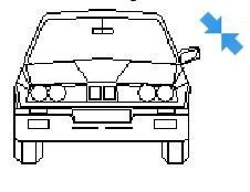 BMW in elevation view dwg model