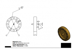 Inventor 2D CAD drawing of Pendulum dial