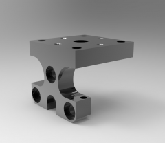 Solid-works 3D CAD Model of Rotary with pivot angles, H=51  ,D=16D1=6,5D3=M6H=M6