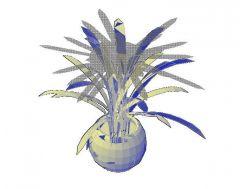 Topfpflanze 03 3D-CAD-Zeichnung