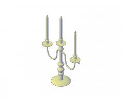 Kerzenhalter & Kerzen 3D dwg