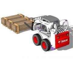 Bobcat mini forklift sketchup model