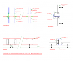 Horizontal cladding support system