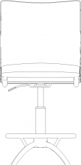 1159mm Height Upholstered Bench Front Elevation dwg Drawing