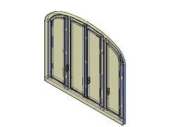 Арочные окна Unit 3D DWG