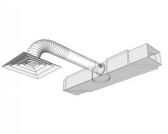 Modello di sketch del dettaglio di connessione del diffusore