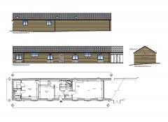 Single storey barn conversion