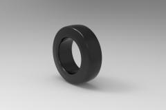 Autodesk Inventor ipt file 3D CAD Model of polyurethane tread bands Ø (mm)125 W(mm)40Load cap. at 4 km/h 420        Load cap. at 10 km/h 160