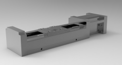 Solid-works 3D CAD Model of Actuator, Rail L=200Overall L=257Overall H without p=20Overall H with p=32Overall W without p=40Overall W with P= 52