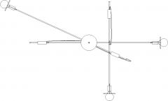 1200mm Top Length Steel Stand Chandelier Plan dwg Drawing