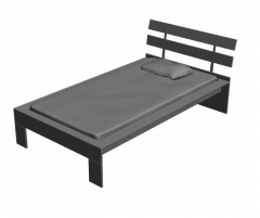 Single Bed 3ds max model