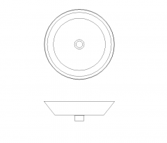 Contemporary round basin