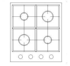 Kitchen - Cooker in Plan View