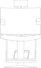 1259mm Height Synthetic Leather Parlor Chair Front Elevation dwg Drawing