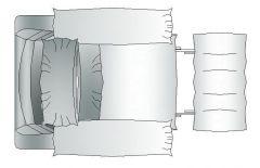 Möbel - Sofa mit Fußablage