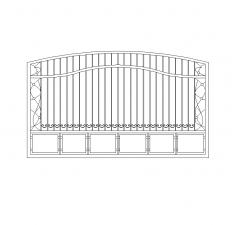 Стальные раздвижные ворота