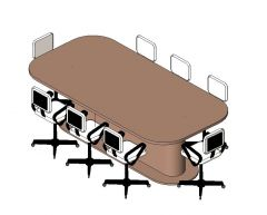 Conference Table 8 Seater Revit Family