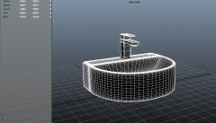 Diseño de cuenca suspendida modelo 3ds max