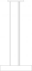 1346mm Length Wooden Design Chandelier Right Side Elevation dwg Drawing
